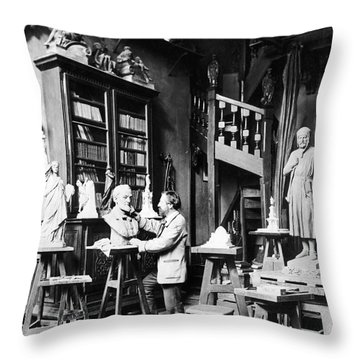 Frederic-auguste Bartholdi Throw Pillow by Granger