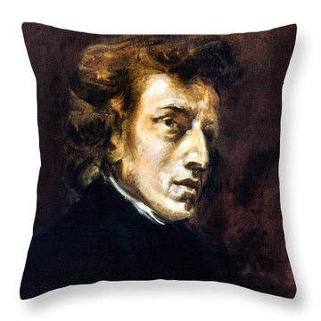 Frederic Chopin Throw Pillow by Granger