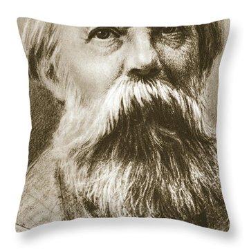 Frederick Engels Throw Pillow