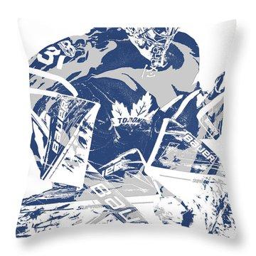 Frederik Andersen Toronto Maple Leafs Pixel Art 2 Throw Pillow