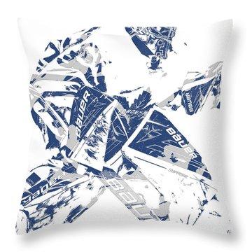 Frederik Andersen Toronto Maple Leafs Pixel Art 4 Throw Pillow