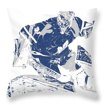 Frederik Andersen Toronto Maple Leafs Pixel Art 5 Throw Pillow