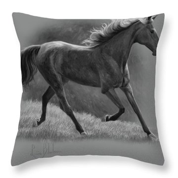 Free - Black And White Throw Pillow