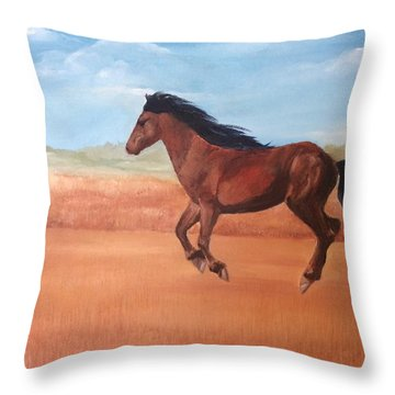 Free Throw Pillow by Ellen Canfield