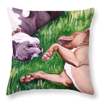 Throw Pillow featuring the painting Free Fallin' by Laura Aceto