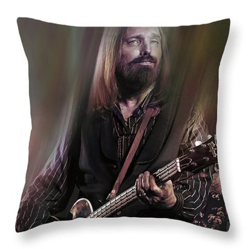 Free Fallin Throw Pillow