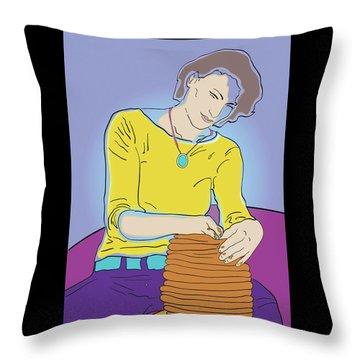 Free Form Throw Pillow