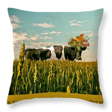 Free Range Chicken Throw Pillow by James Bethanis