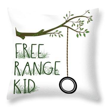 Free Range Kid Throw Pillow