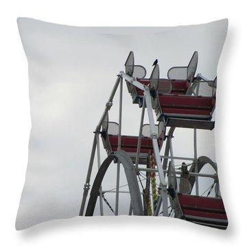 Free Ride Throw Pillow