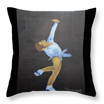 Throw Pillow featuring the painting Free by Saundra Johnson