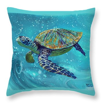 Throw Pillow featuring the painting Free Spirit by Darice Machel McGuire
