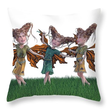 Free Spirit Friends Throw Pillow by Betsy Knapp