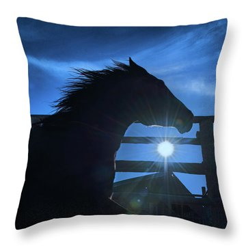 Free Spirit Horse Throw Pillow