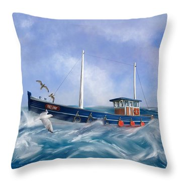 Throw Pillow featuring the digital art Free Spirit by Mark Taylor