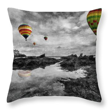 Free Spirits Throw Pillow by Ian Mitchell