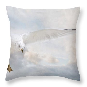 Throw Pillow featuring the photograph Free To Fly by Robin-lee Vieira