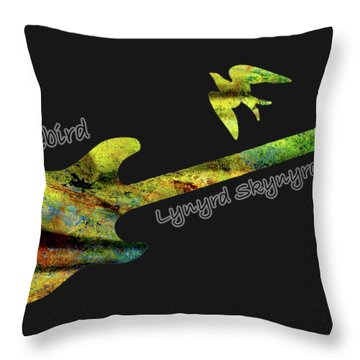 Freebird Lynyrd Skynyrd Ronnie Van Zant Throw Pillow