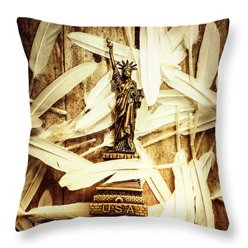 Freedom And Independence Throw Pillow