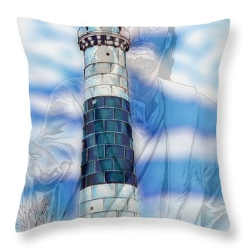 Freedom Throw Pillow by Bill Richards
