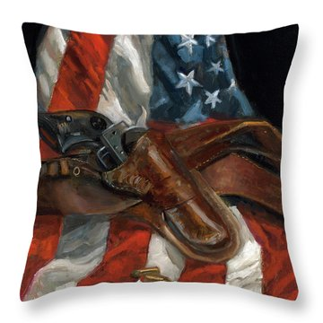 Throw Pillow featuring the painting Freedom by Billie Colson