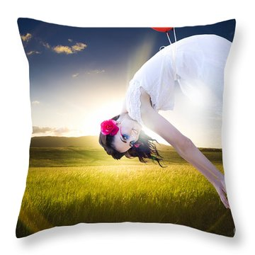 Freedom Concept Throw Pillow