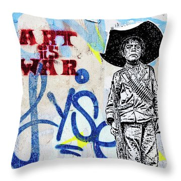 Throw Pillow featuring the photograph Freedom Fighter by Art Block Collections