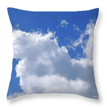 Throw Pillow featuring the photograph Freedom by Francesca Mackenney