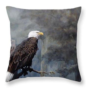 American Bald Eagle Throw Pillows