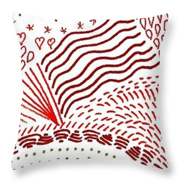 Freedom In Red Throw Pillow