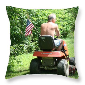 Freedom Isn't Free Throw Pillow by Barbara S Nickerson