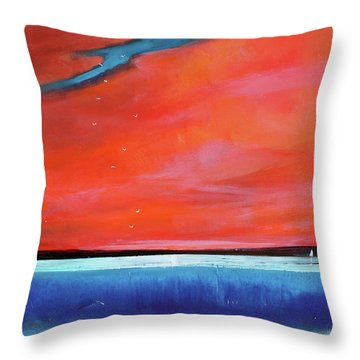 Freedom Journey Throw Pillow by Toni Grote