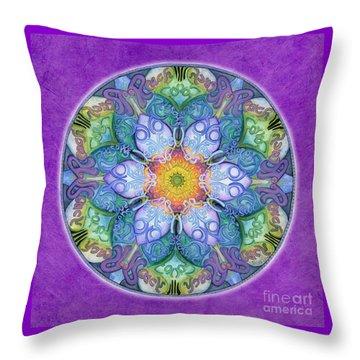 Freedom Mandala Throw Pillow