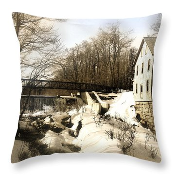 Freedom Mill Stream Throw Pillow