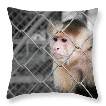 Freedom Not Bigger Cage Throw Pillow