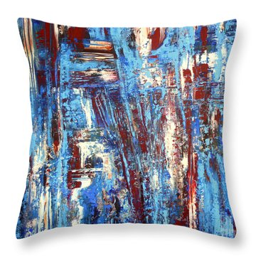 Freedom Of Expression Throw Pillow by Valerie Travers