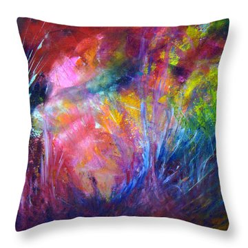 Freedom Of The Dragon Fly Throw Pillow by Davina Nicholas