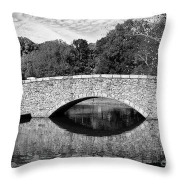 Freedom Park Bridge In Black And White Throw Pillow