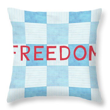 Freedom Patchwork Throw Pillow