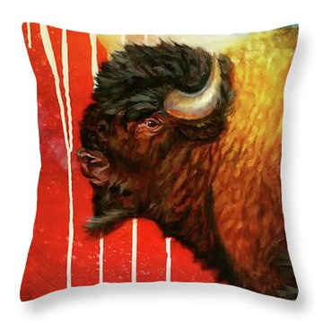 Freedom Roams Throw Pillow