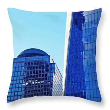 Throw Pillow featuring the photograph Freedom Tower And 2 World Financial Center by Sarah Loft