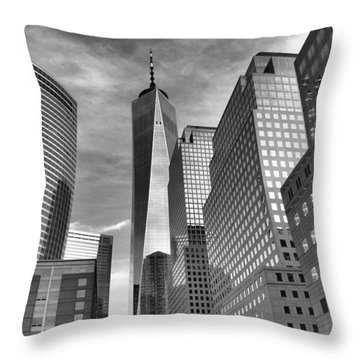 Throw Pillow featuring the photograph Freedom Tower by Joan Reese