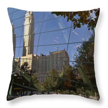 Ground Zero Reflection Throw Pillow