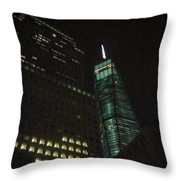 Wtc And Wfc Throw Pillow