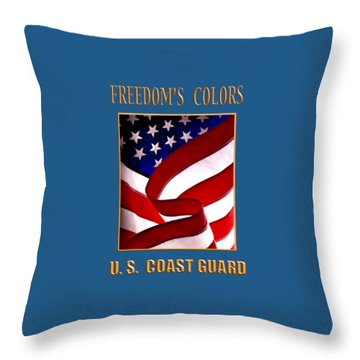 Freedom's Colors Uscg Throw Pillow