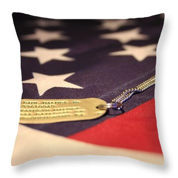 Throw Pillow featuring the photograph Freedom's Price by Laddie Halupa