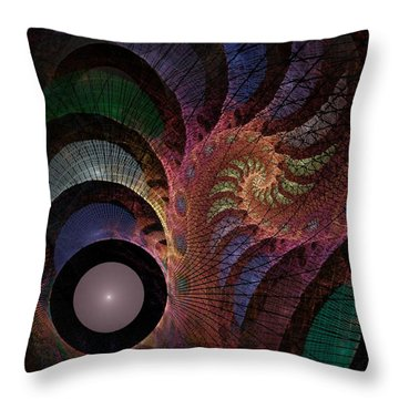 Throw Pillow featuring the digital art Freefall - Fractal Art by NirvanaBlues