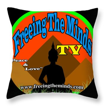 Freeing The Minds Supporter Throw Pillow