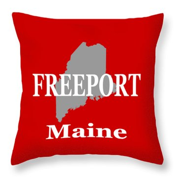 Throw Pillow featuring the photograph Freeport Maine State City And Town Pride  by Keith Webber Jr