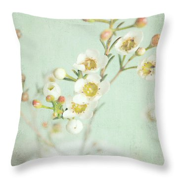 Freesia Blossom Throw Pillow